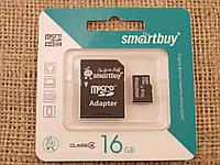 Карта памяти MicroSD SmartBuy 16Gb Класс 4