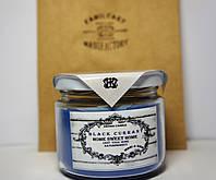 Арома свеча подарочная ЭКО с ароматом Черной смородины 250гр (Д=8,3см Н=8см)