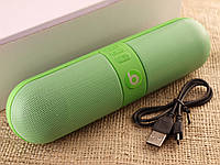 Колонка Beats Pill Зеленая Bluetooth+MicroSD+USB+FM