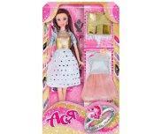 Кукла Ася брюнетка с 2 нарядами аксессуарами и сюрпризом Сияй как бриллиант Ася 35098