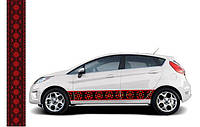 Наклейка Автовышиванка Классическая черная 170-1232015