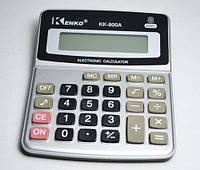 Небольшой настольный калькулятор kenko kk-800a/900а, 8 разрядов, звуковое сопровождение, память, пластик