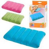 Детская надувная подушка Intex 68676 (43-28-9 см, 3 цвета)