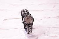 женские часы Guess черные матовые (кварцевые) циферблат и ремешок в камнях