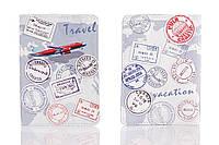 Кожаная обложка на паспорт Travel 156-1552514