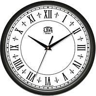 Часы настенные круглые черные Римские цифры 110-1083231