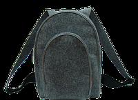 Рюкзак войлочный серый 168-1659944