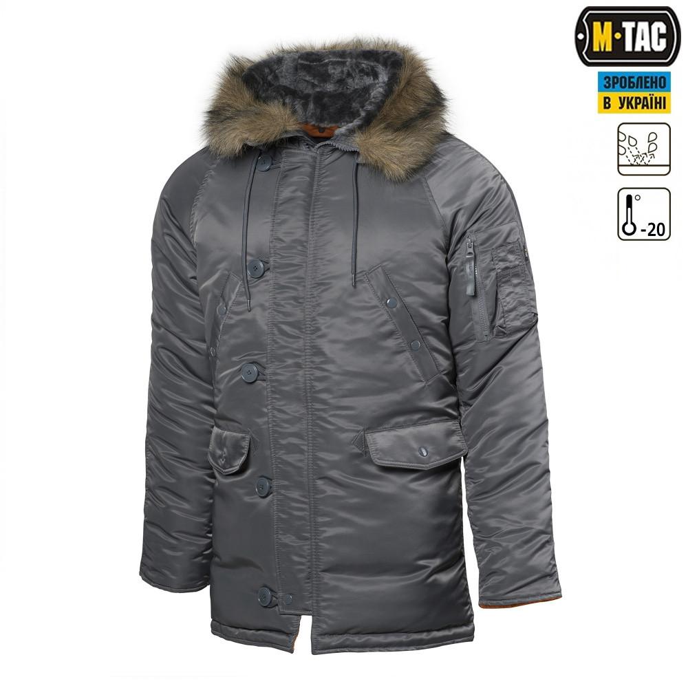 """Куртка N3B """"Зимнее солнце"""" (Аляска) серая"""