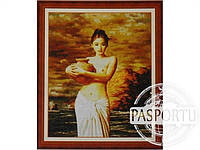 Набор для вышивки картины Девушка у реки 78х64см 374-37010661