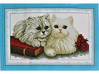 Набор для вышивки картины Пушистые Котики 45х31см 373-37010686