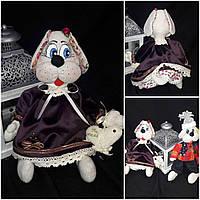 "Изумительная игрушка собачка ""Амелия"", 35-37 см., 490/450 (цена за 1 шт. + 40 гр.)"