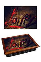 Поднос с подушкой Любовь 380-9711015