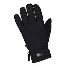 Зимние перчатки Soft Shell Thinsulate чёрные, фото 2