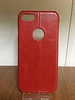 """Кожаный чехол """"Pierre Cardin"""" красный для iPhone 7/8"""