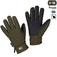 Зимние перчатки Soft Shell Thinsulate оливковые, фото 1