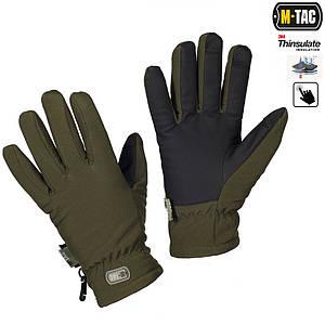 Зимние перчатки Soft Shell Thinsulate оливковые
