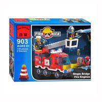 Конструктор Brick 903 Пожарная  тревога (130 деталей)