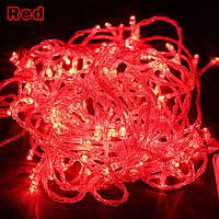 Гирлянда светодиодная LED на 200 диодов красная
