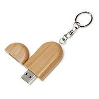 Бамбуковая флешка - брелок с колпачком 8Гб 173-17212343