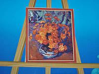 Картина на холсте по номерам Хризантемы 57-5412560
