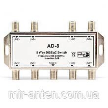 Коммутатор DiSEqC 8х1 Alphabox AD-8