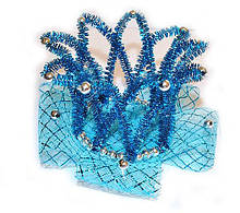 Заколка Корона принцессы голубая детская