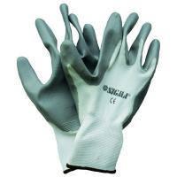 Перчатки трикотажные Sigma с частичным нитриловым покрытием (манжет нейлон) (9223101)