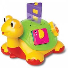 Черепаха-Знайка, каталка-сортер (свет, озвучка на русском языке), Kiddieland 049742
