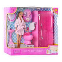 Кукла с ванной комнатой DEFA 8215