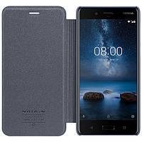 Кожаный чехол (книжка) Nillkin Sparkle Series для Nokia 8 Dual SIM Черный