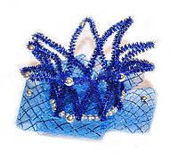 Корона Снежной королевы для девочки синяя