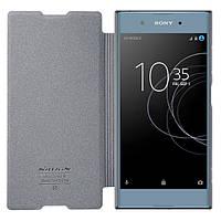 Кожаный чехол (книжка) Nillkin Sparkle Series для Sony Xperia XA1 Plus / XA1 Plus Dual Черный