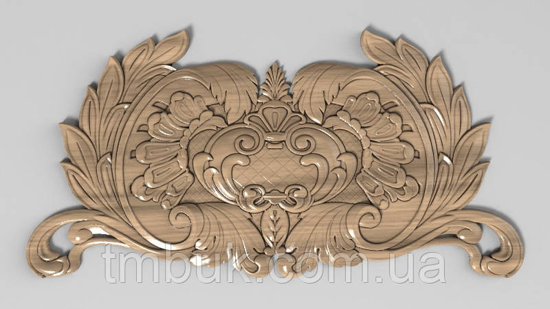 Горизонтальный декор 51 деревянная накладка - 300х150 мм