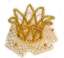 Золотая корона для девочки заколка