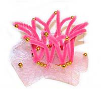 Розовая корона для девочки