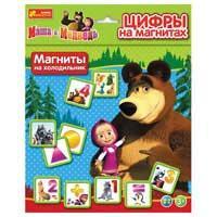 Цифры на магнитах Маша и медведь Ranok creative 4201а
