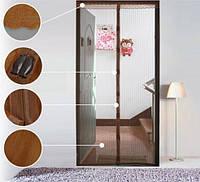 Дверная антимоскитная сетка на магнитах коричневая 429-42715299