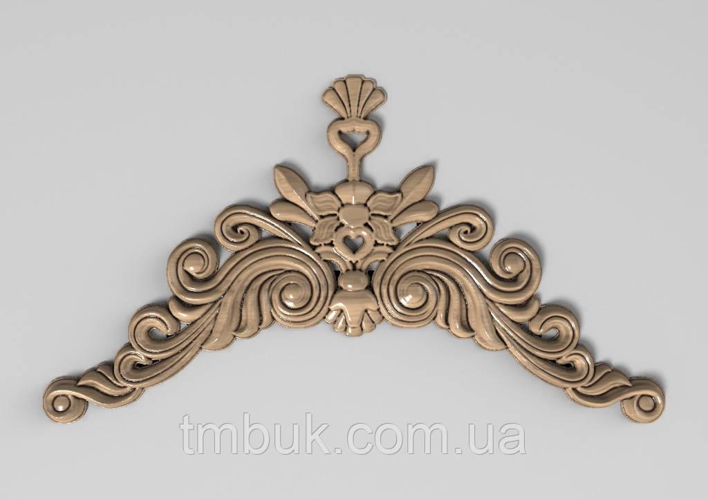 Горизонтальный декор 61 деревянная накладка - 250х140 мм