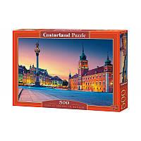"""Пазлы  500 """"Замковая площадь, Варшава""""   Castorland"""