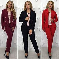 Женский костюм двойка брюки и пиджак БАТАЛ 50ba5ea7b18c1
