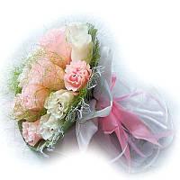 Букет из конфет Бело-розовые розы