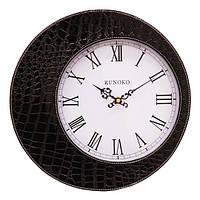 Часы в стиле крокодильей кожи Черные Leather Black 110-10817255