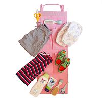 Подвесной органайзер для шкафчика в детский сад Розовый 227-18917313