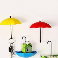 """Крючок - ключница универсальная""""Зонтики"""" для ключей, очков и мелочей 107-10217772"""
