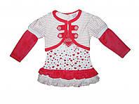 Платье детское+болеро Pink 1028