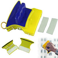Магнитная щетка для мытья окон с двух сторон Glass Wiper 244-8618104