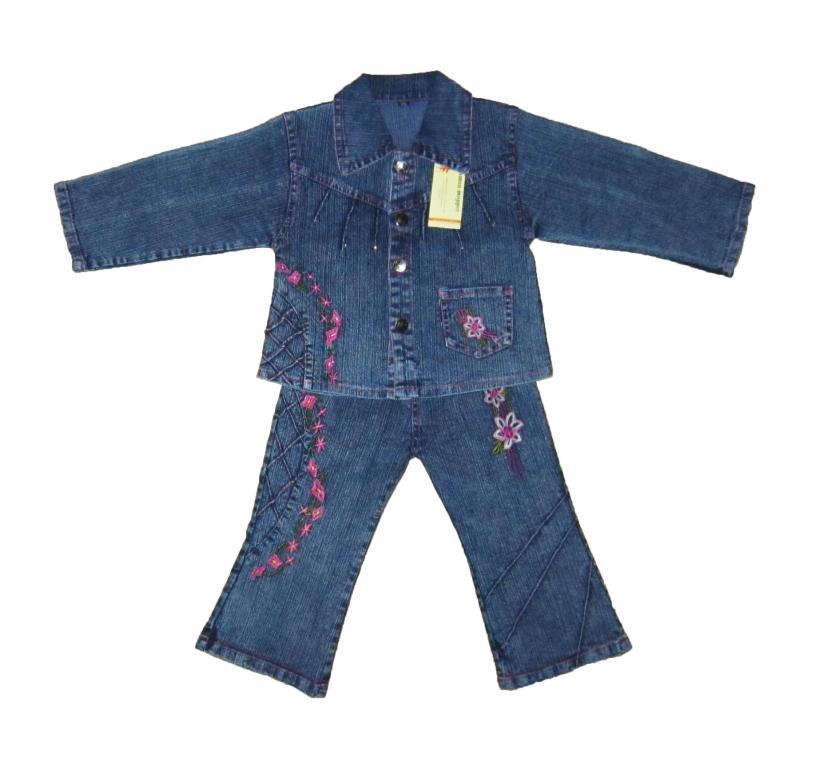 Костюм детский джинсовый  для девочки цветок