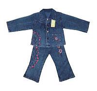 Костюм детский джинсовый  для девочки цветок, фото 1