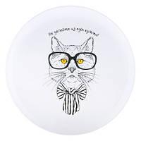 """Тарелка с котом""""Не делайте из еды культа!"""" 347-8718147"""