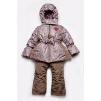 Зимний костюм для девочки Модный карапуз Цветочки